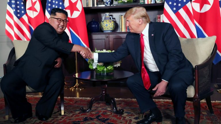 Trump and Kim meet after months of threats and insults