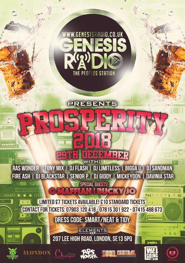 GENESISRADIO.CO.UK Presents – PROSPERITY – 29th Dec, 2018