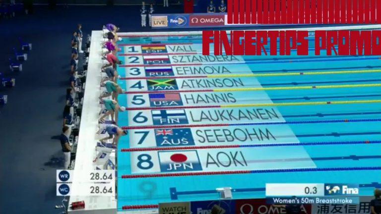 Alia Atkinson of Jamaica Set a New World Record in the Women 50M Breast Stroke