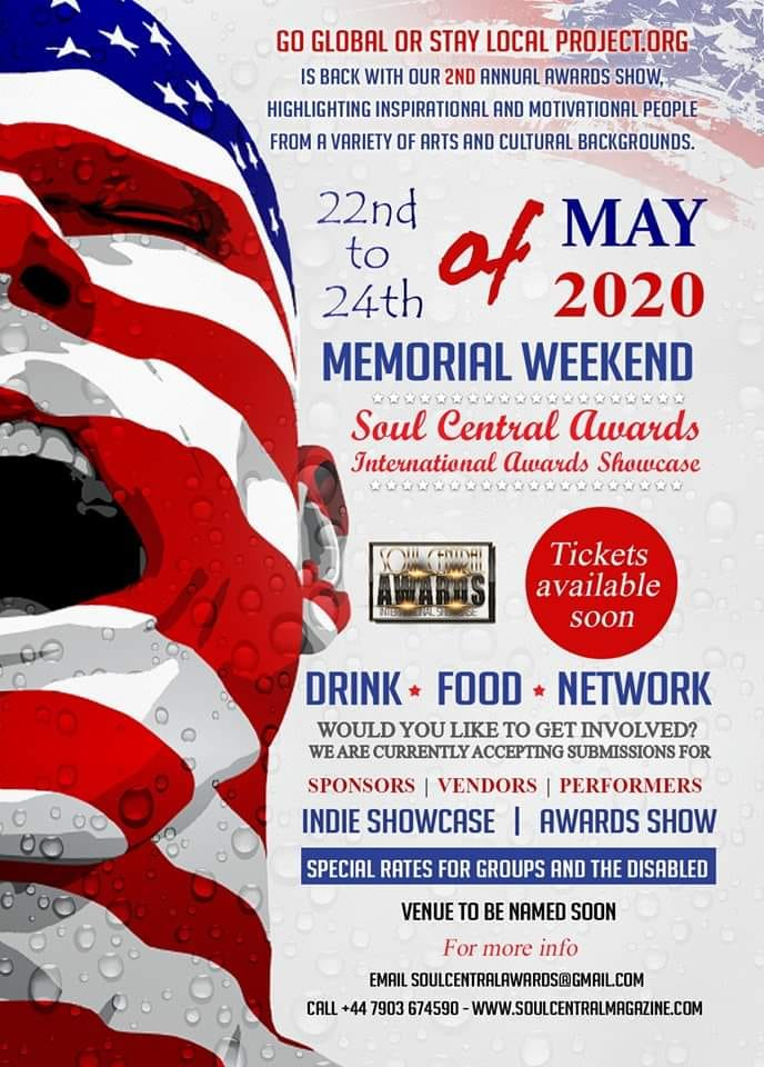 NOMINATIONS HAVE STARTED FOR SOUL CENTRAL INTERNATIONAL AWARDS SHOWCASE 2020 #MAY #22 #23 #DETROIT