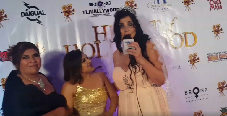 Tammie Starr on the Red Carpet at the Hearts of Hollywood in Tijuana, Mexico.