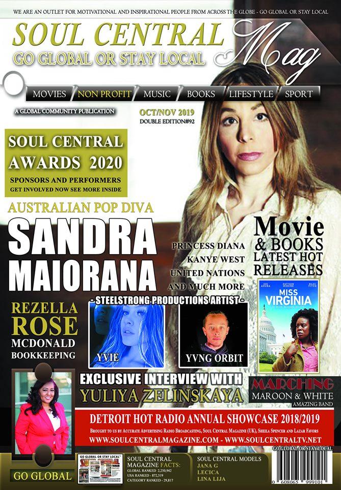 Soul Central Magazine Sandra Pop Diva Edition #92