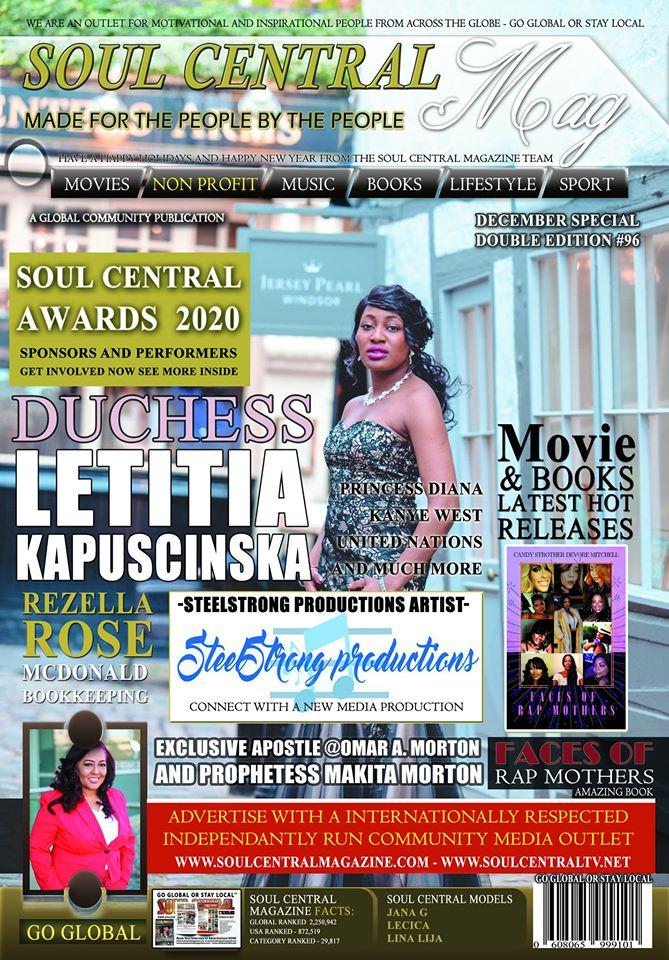 Soul Central Magazine Duchess Letitia Antoinette Kapuscinska #Edition #96