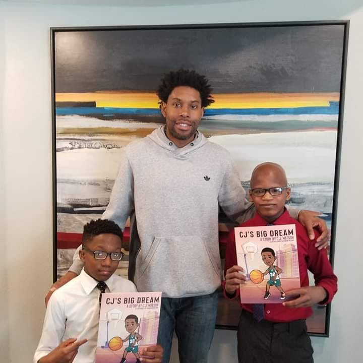 Amari & Kamal from Sports Madness Interview Former NBA Player CJ Watson for his new book CJ's Big Dream & Quiet Storm Foundation